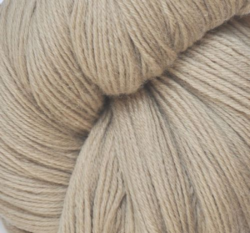 100% Wool skeins pale stone double knit X10 approx 250g